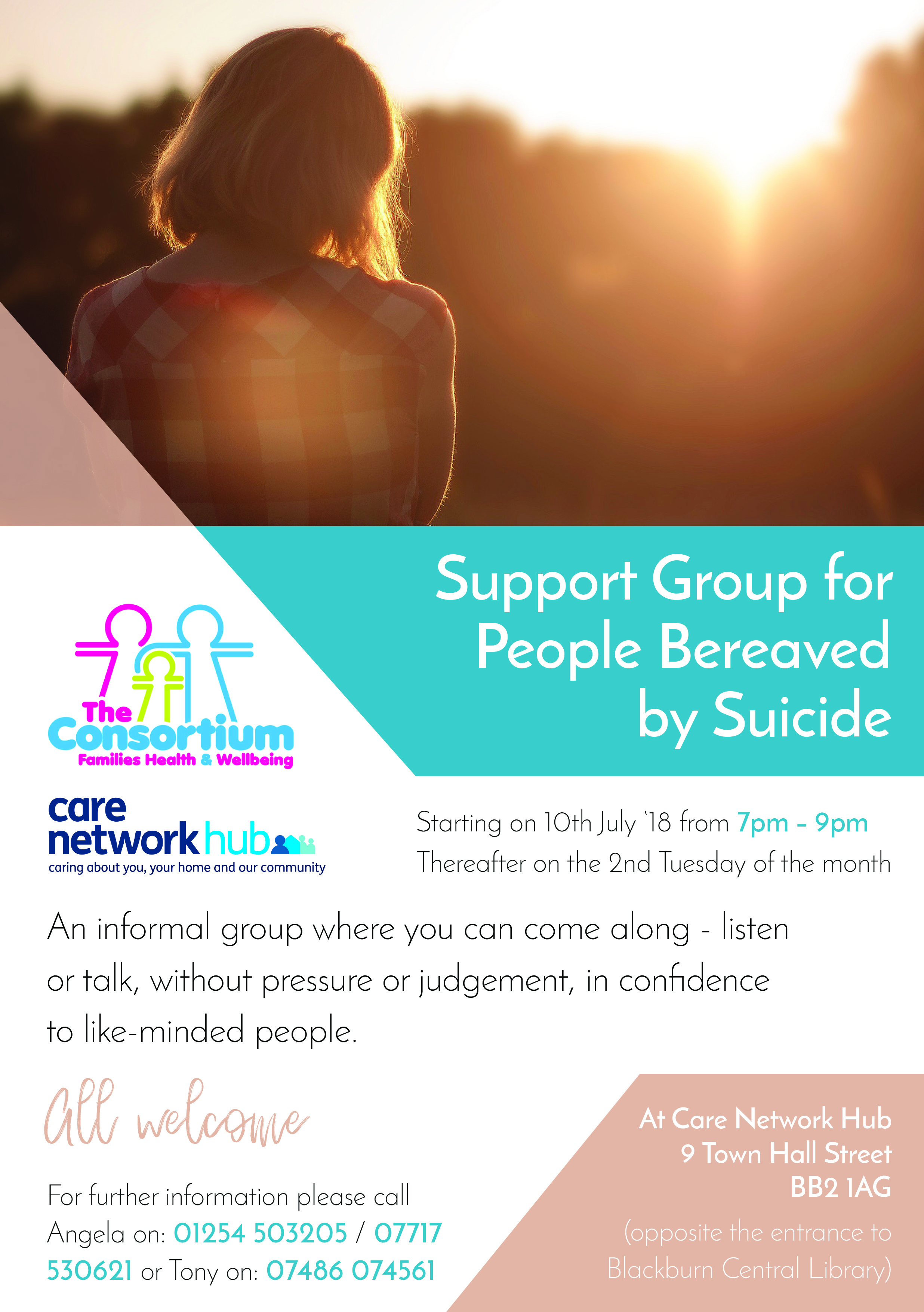 Poster for support group for people bereaved by suicide