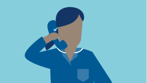 Illustration of help desk officer