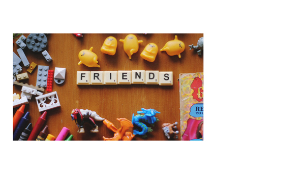 Friends assemblage of toys