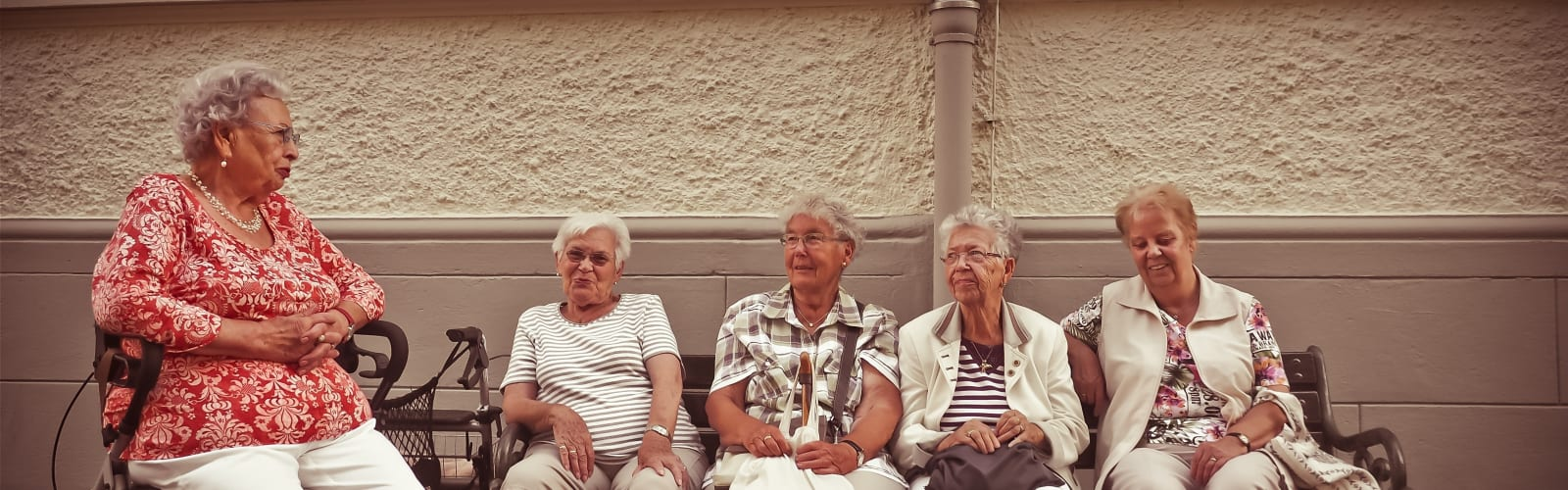 Older women sitting on bench